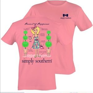 """Simply southern pink """"pursuit of preppiness"""" shirt"""